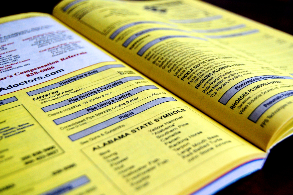 Obsolete Yellow Pages Book