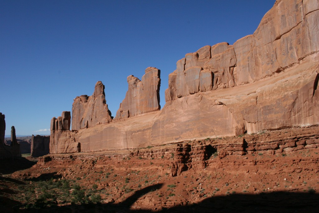 Park Avenue in Arches National Park near Moab, UT